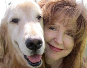 Guest Blogger Francie Lora and her dog, Obie