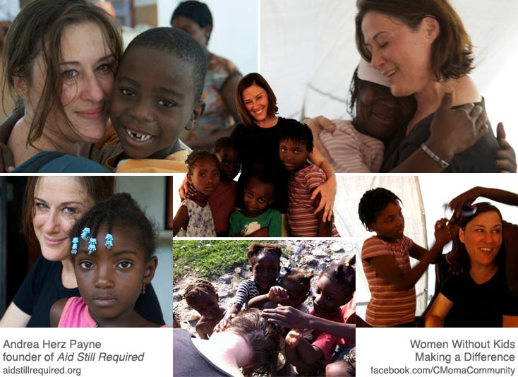 Andrea Herz Payne is a Woman Without Kids Making a Difference (collage)
