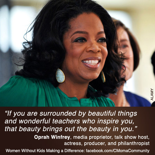 Oprah Winfrey is a Woman Without Children Making a Difference