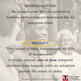 myths about senior adoptive parents