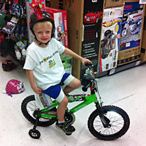 Foster child's wish granted: a new bike