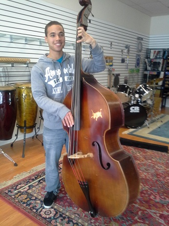 Foster child's wish granted: a Stand-up Bass